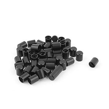 50pcs 8,3mmx10,5mm Kappe schwarz für Abzugshaube Klavier Tastatur Schalter