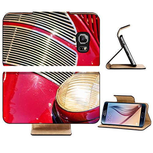 ung Galaxy S6 Edge Flip Pu Leather Wallet Case IMAGE 28581236 A close up of a headlight and fender on a vintage classic car (Chargers Fender Purse)