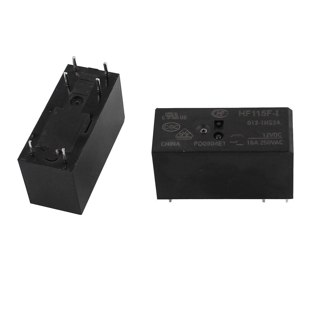 4d9f5dbe-a222-11e9-8d7c-4cedfbbbda4e X-Dr 5 Pcs 12VDC 250VAC 16A 6 Terminal DPDT NO HF115F-I//012-1HS3A Power Relay