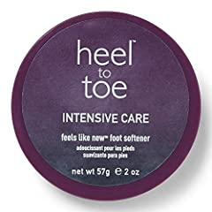 Heel To Toe Feels Like New Foot Softener helps soften problem areas on feet such as corns, calluses, and rough cracked heels. Restores natural softness and formulated with natural lanolin and beeswax to help seal in moisture and help soften c...