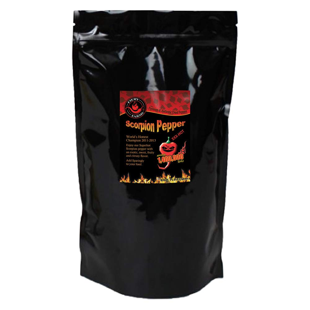Dry Trinidad Scorpion Butch T powder   Grounded Trinidad Scorpion Peppers (1lb)