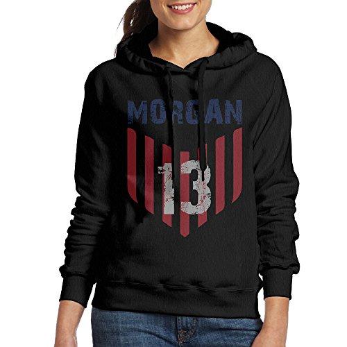 LOVEGIFTTO LADY Womens USA Soccer Player Alex Morgan Hoodie Sweatshirts Black X-Large (Alex Turner Sweatshirt)