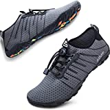 SIMARI Mens Womens Water Shoes Sports Quick Dry Barefoot Diving Swim Surf Aqua Walking Beach Yoga 209 Gray 12.5W/11.5M