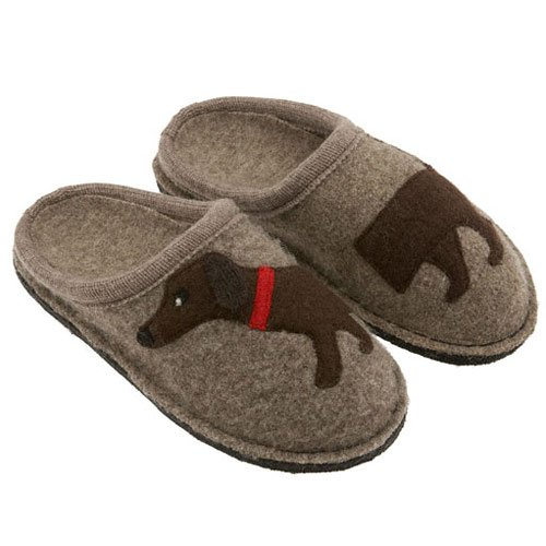 Used, Haflinger Women's Doggy Applique Slipper,Earth,42 EU for sale  Delivered anywhere in USA