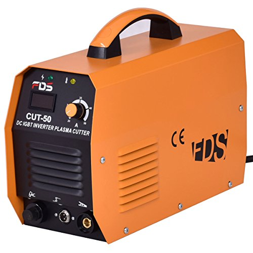 Goplus Plasma Cutter Cut-50 50A 220V Electric DC Inverter Air IGBT Cutting Machine w/Free Mask LCD Display (Plasma Cutter)