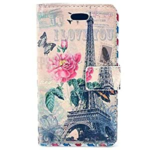 Peony Tower Flower PU Leather Hard Case with Card Slots for Samsung Galaxy Trend Duos S7562
