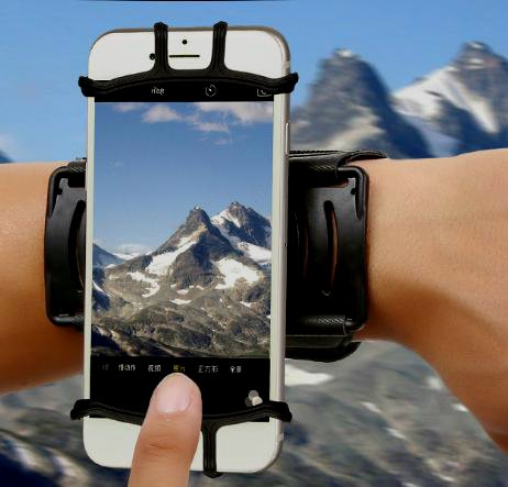 Armband Running Touch Screen 180°Rotating Parachute Wristband Sports Arm Band Case for iPhone 6/6S/7/7 Plus and Android Phones by Mounchain Lenth 10'' Black by Mounchain