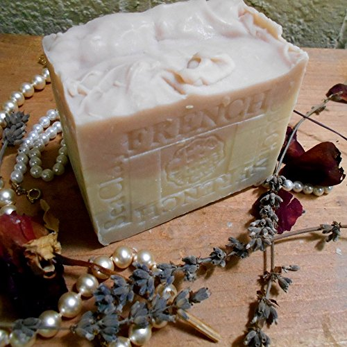 Provence French Lavender- Jasmine Grandiflorum with Sea and Rose Clay Face and Body Soap- Aged 11 Ounce Bar Natural Handmade Aged Two Years