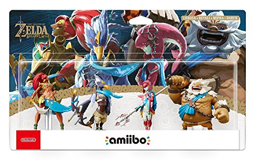 The Legend of Zelda: Breath of the Wild - Champion's Amiibo 4-Pack (Urbosa/Revali/Mipha/Daruk) - Nintendo Wii U + 3DS + Switch by Video Game