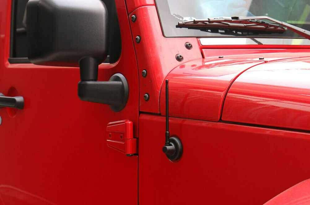 7 Zoll Schwarz f/ür Jeep Wrangler JK Unlimited Rubicon Sahara 2//4 T/üren FidgetGear Antenne 17,8 cm