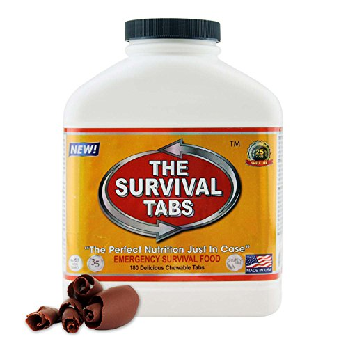 Survival Tabs Thuc Pham Sinh Ton 15-day food Supply Thuc Pham Sinh Ton for people carrier Driver New Advanced Formula Survival Tabs Thuc Pham Sinh Ton MRE Meals Ready-to-Eat 25 Years Shelf Life - Chocolate Flavor