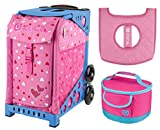 Zuca Sport Bag - Sweet Heartz with gift Lunchbox and Seat Cover (Blue)