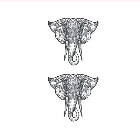 DRTHUKG Etiqueta Engomada del Tatuaje Elefante Tatuaje Temporal ...