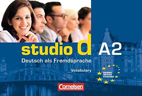 Studio d - Grundstufe: A2: Gesamtband - Vokabeltaschenbuch Deutsch-Englisch