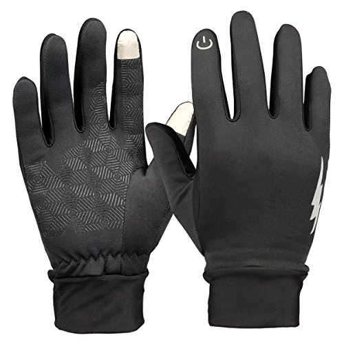 Winter Touch Screen Gloves,YangXu Thick Warmest Windproof & Waterproof Gloves,Suitable for Smartphones and Touchscreen Devices,Outdoors, Cycling, Running, Texting Fits Men and Women (Black)