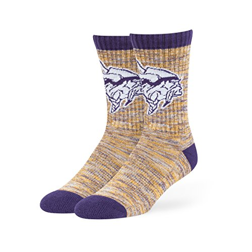 NFL Minnesota Vikings Men's Leroy Sport Crew Socks, Large, (Minnesota Vikings Shorts)