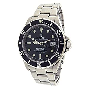 Rolex Submariner automatic-self-wind mens Watch 16610-BKSO (Certified Pre-owned)