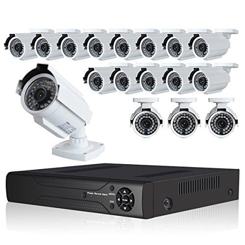 JOOAN TC-604DVR-16H 1080TVL Analog Cameras 16 CH CCTV DVR System Surveillance Security Cameras Indoor/Outdoor