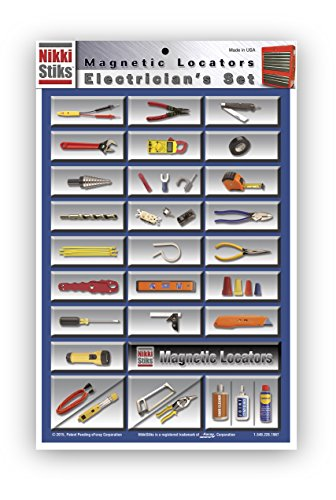 Nikki Stiks Electrician Graphic Magnetic Tool Box Label Set