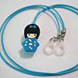 BTE Hearing AIDS Clip Safty Protection Accessory w/Replaceable Silicone Loop (Blue)
