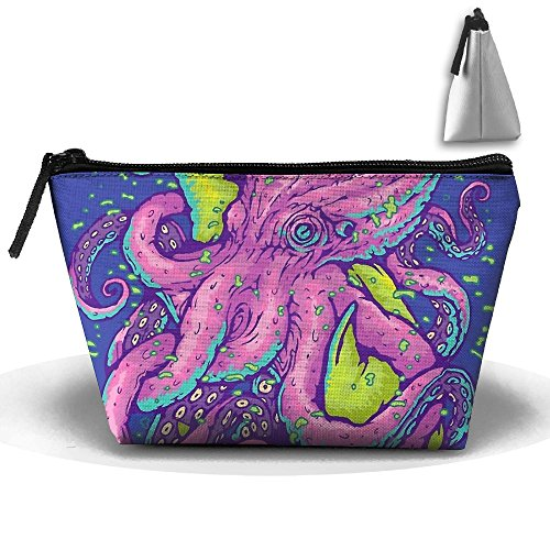 Shark Vs Kraken Portable Travel Bag Cosmetic Bag Storage Toiletries Cords And Chargers Zipper Pouch Bag - Kraken Online