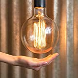 Home Wedding Decorative Ornaments Christmas Event Party Décor Vintage Antique Bulb, Oversized, 6 in wide x 8.25 in., 60 watts, Clear