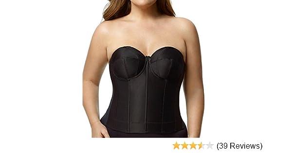 0659ae7b6 Elila Underwire Simplex Longline Strapless Bra at Amazon Women s Clothing  store