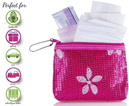 Menstruation Kit - First Period Kit To-go! (Period Starter Kit with all Natural Pads) (Parent Survival Kit For First Day Of School)