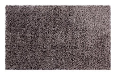 Chesapeake Merchandising 79201 Microfiber Shag Area Rug, 5' x 7', Grey