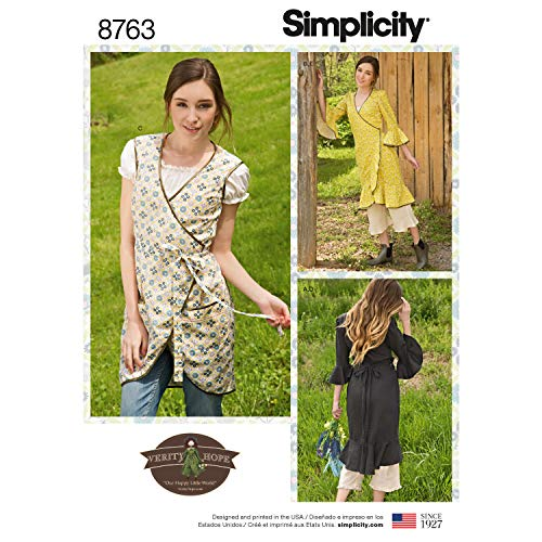 Simplicity Sewing Pattern 8763 H5 Misses' Apron Dress by Verity Hope, Size 6-8-10-12-14