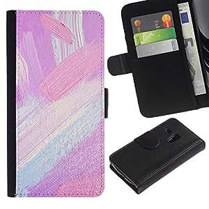 Be Good Phone Accessory // Caso del tirón Billetera de Cuero Titular de la tarjeta Carcasa Funda de Protección para Samsung Galaxy S3 MINI NOT REGULAR! I8190 I8190N // Tones Painting Brush Strokes Oil