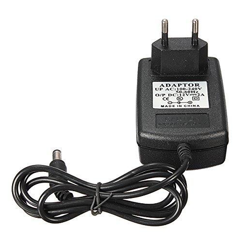 Muccus EU US UK Plug AC 100-240V to DC 12V 2A Power Supply Adapter Charger for CCTV Security Camera Plug Type: US