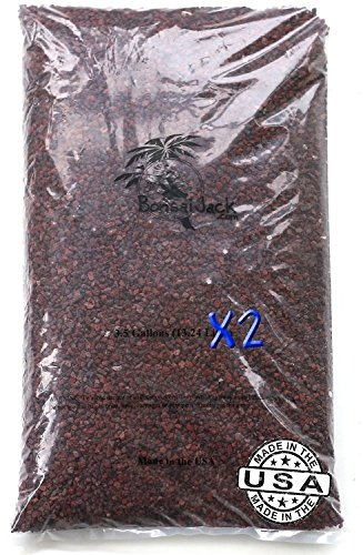 1/4 inch Bonsai Lava Rock Maroon / Red. 7 Gallons, 28 Quarts