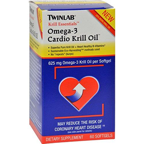 Krill Essentials Cardio Oil (Twinlab Krill Essentials Omega 3 Cardio Krill Oil - 625 mg - 60 Softgels)