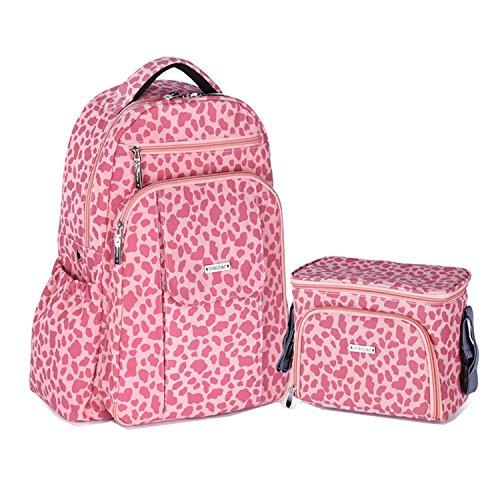 BigForest Maternity Multifunctional Mummy Large capacity Backpack Travel Tote Bag Baby Diaper Handbag Nappy Changing Bag Pinkn set