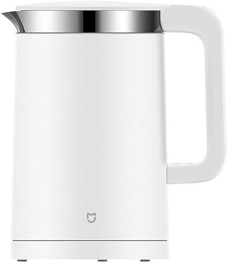 Image ofXiaomi Mi Smart Electric Kettle YMK1501 EU version - Hervidor eléctrico inteligente con interior de acero inoxidable, control de temperatura durante 12h, 1.5 litros, 1800W, color blanco