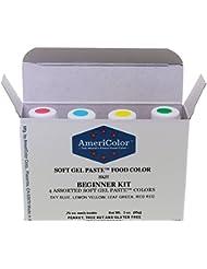 Americolor 4-Color Soft Gel Paste Food Color Kit