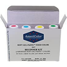 Americolor 4-Color Soft Gel Paste Food Color Kit