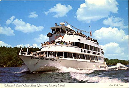 Thousand Island Cruise Boat Gananoque, Ontario Canada Original Vintage Postcard