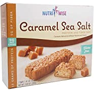 NutriWise - Divine Caramel Sea Salt   Gluten Free Diet Snack Bars   High Protein, Low Fat, Cholesterol Free, Low Carb(7/Box)