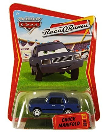 Amazon Com Disney Pixar Cars Race O Rama Chuck Manifold Toys Games