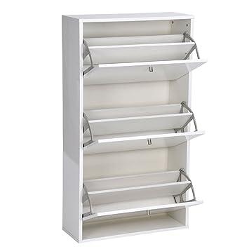 3 cajón extraíble de fácil elegante espejo de madera zapatero ...