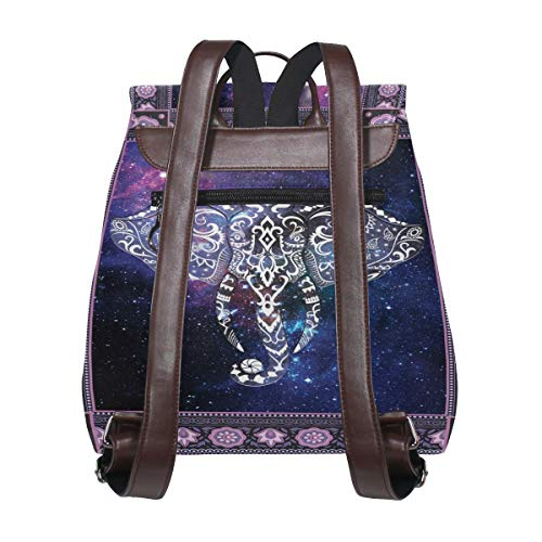 Kvinnor PU-läder elefant ryggsäck handväska resa skola axelväska ledig dagväska