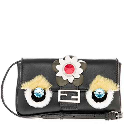 Fendi-Womens-Baguette-Micro-Fashion-Show-Appliques-Black