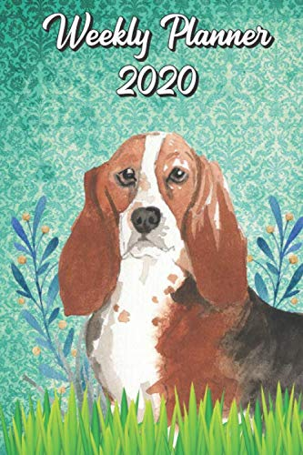 Weekly Planner 2020: Basset Hound 2020 Weekly Calendar with Room for Notes. Perfect Gift for Pet and Dog Owners.