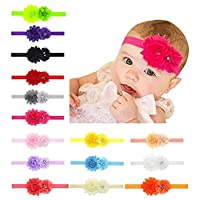 Toptim Baby Girl's Headbands and Crystal Flower for Photographic Accessories,...