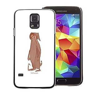 A-type Arte & diseño plástico duro Fundas Cover Cubre Hard Case Cover para Samsung Galaxy S5 (Wizard Beard White Character Man Old)