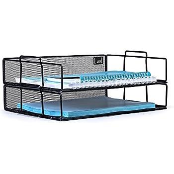 Pleasant Amazon Com Xinyaoshi 3 Tier Letter Tray Stackable Mesh Desk Interior Design Ideas Grebswwsoteloinfo