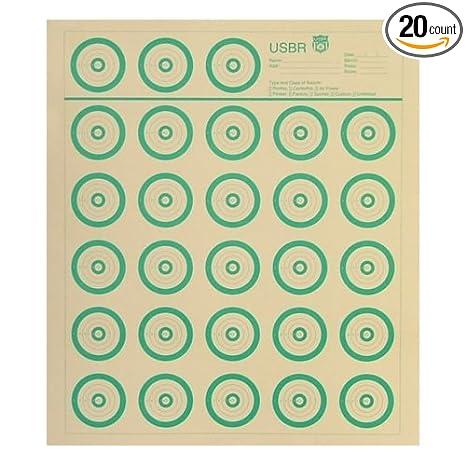 20 Shooting Targets Benchrest Test Bench Rest 50 yards 14