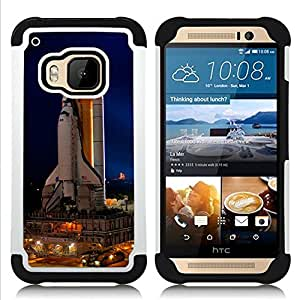 - Cape Canaveral Space Ship Launch/ H??brido 3in1 Deluxe Impreso duro Soft Alto Impacto caja de la armadura Defender - SHIMIN CAO - For HTC ONE M9